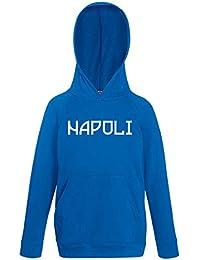 SpotApplick Felpa Napoli Calcio Ultras Bambina Ragazzo Cappuccio Bambino  Bimbo Bimba Calcio Blu Nero e1bc04631ae