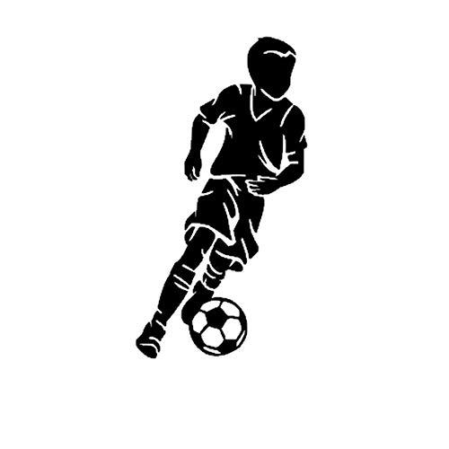 Wandtattoo Kinderzimmer Kleiner Junge Fußball Spieler Aufkleber Sport Fußball Auto Aufkleber Helme Kinderzimmer Name Poster Vinyl für Kinderzimmer Jungen Geschenk (Fußball-spieler Kleine)