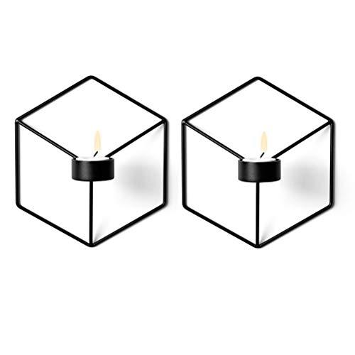 Stereometrischer Kerzenleuchter, wandmontierter Kerzenleuchter Metall, wandmontierte Dekoration (Kerzenständer 5#) - Kerze-halter-wand-dekoration