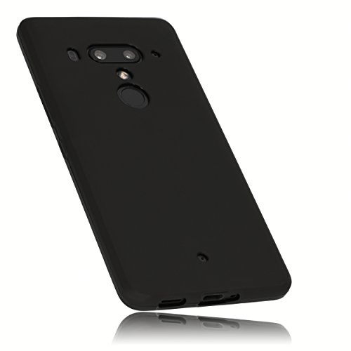 mumbi Hülle kompatibel mit HTC U12+, schwarz