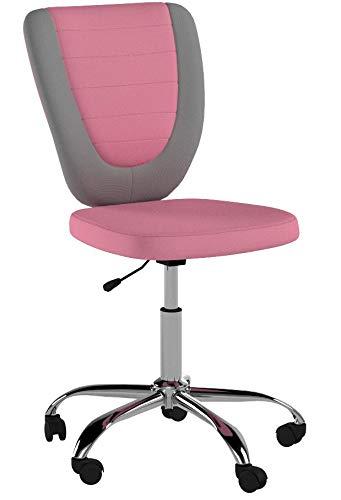 CARO-Möbel Kinderdrehstuhl Future Schreibtischstuhl Drehstuhl in grau/rosa, höhenverstellbar