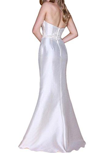 Royaldress Elegant Weiss Satin Glitzer Abendkleider Partykleider Cocktailkleider Vintag Brautmode Mini Kurz Weiß