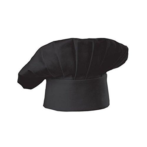 LEORX Kochmütze Hut Chefmütze im Pilzstil für Küche Restaurant (schwarz)