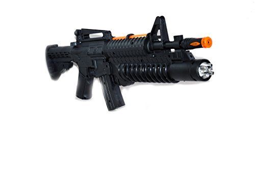 Toyzstation Black Personal Defense Weapon With Sound and Light for Kids