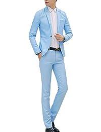 39e66b981774 Costume Homme d affaire Mariage Slim Fit Deux Pièces Veste + Pantalon