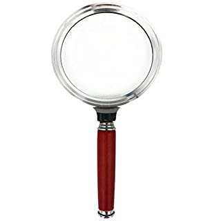 Aoneky Kids 2.5x Large Magnifying Glass Toy Gifts with Rosewood Handle for Watching Bug in Silver