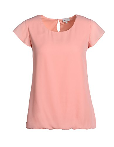 Bexleys by Adler Mode Damen Shirtbluse mit Flügelärmel - T-Shirt, Bluse, Oberteil, Top Apricot 50
