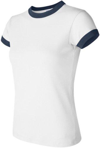 Bella Damen One-Shoulder 1007 Mehrfarbig - White/navy