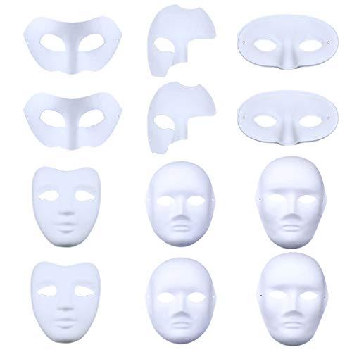 alloween Maske Kreative DIY Malerei Weißbuch Maske Maskerade Maske ()