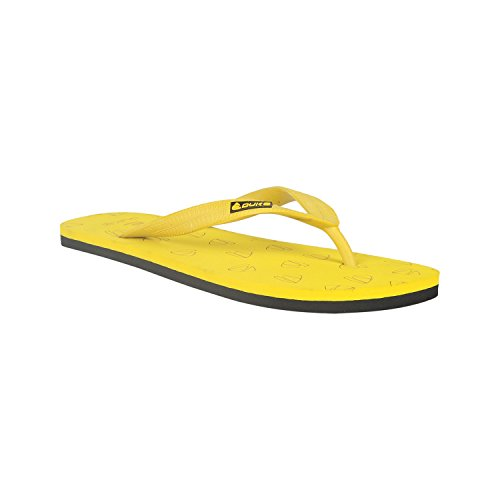 Duke Men's Yellow & Black Coloured PVC Slippers 6  available at amazon for Rs.250