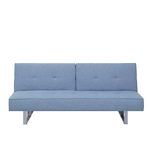 Beliani Schlafsofa Polsterbezug blau 190 cm Dublin