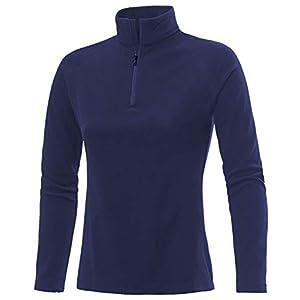Medico Damen Ski Shirt, 100% Polyester, Fleece, langarm, Reißverschluss