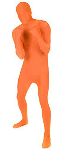 ene Kinder zweite Haut Body Overall Kostüm Cosplay Lycra UK - Orange, L Adult (Orange Adult Kostüme)