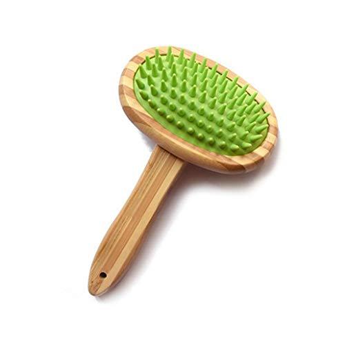 Cepillo de baño para masajes para mascotas - Aguja de silicona y se quita la piel suelta y la suciedad - Ideal para gatos Perros cortos a largos Piel Masaje Baño ( color : Green , Tamaño : One size )