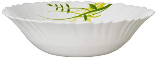 Larah by Borosil Green Hub (LH) Opalware Multipurpose Bowl Set, Set of 2, White