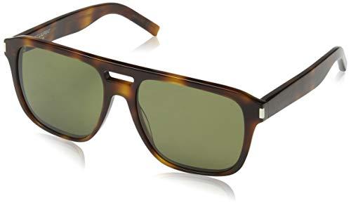 Saint Laurent Herren SL 87 003 56 Sonnenbrille, Avelana/Green,