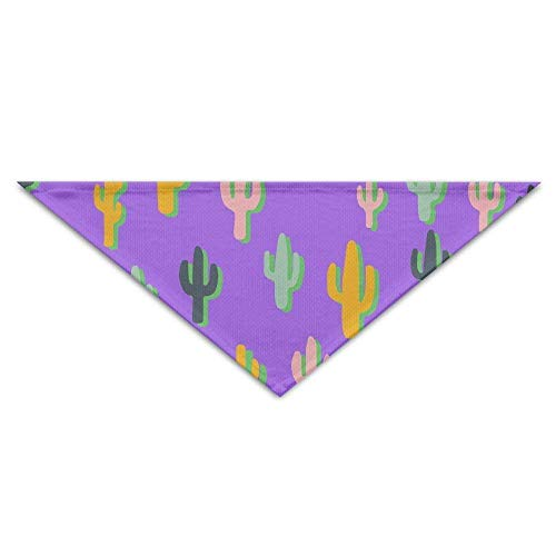 Wfispiy Colorful Cactus Pet Scarf Dog Cat Bandana Collars Triangle Neckerchief ()