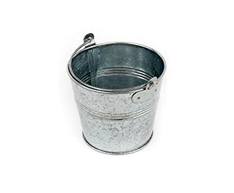 Miniatur-, die Sie/Stahl verzinkt Servieren Eimer Set von 4