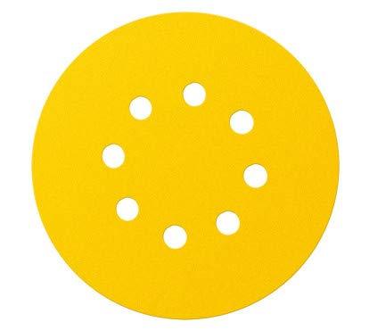 Graphite 5-teiliges Set Schleifscheiben K80 gelb zum Schleifen von Gipsflächen mit Klettverschluss -