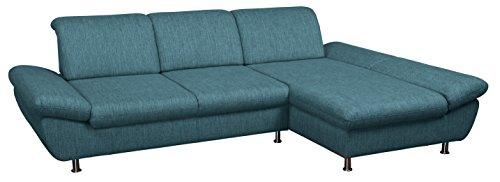 Cavadore 5033 Polsterecke Messal/3er Longchair AT Fkt./294 x 87 x 195 cm/ Atlanta aqua 86