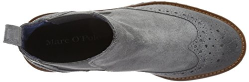Marc O'Polo - Flat Heel Chelsea, Stivali bassi con imbottitura leggera Donna Grigio (Grau (Grey 920))