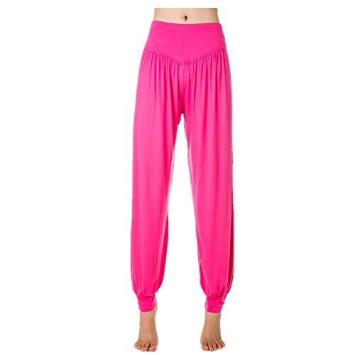 YEZIJIANG Damen Super Weich Bequem Yogahosen Lang Harem Hose Casual Sporthose Sommerhose Haremshose Modal Elastisch Pluderhose Pumphose Ideal für Sport Yoga Tanz Jogging Dance -