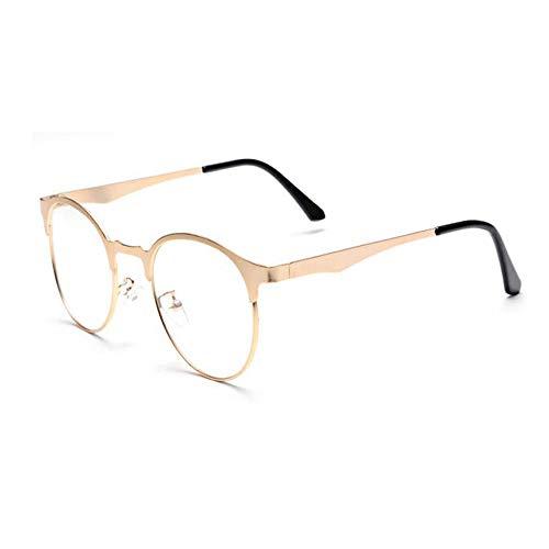 YWX- Eyewear Augenbrauen Vollmetallbrille GroßE Brille Rahmen Retro Brille Transparente GläSer...