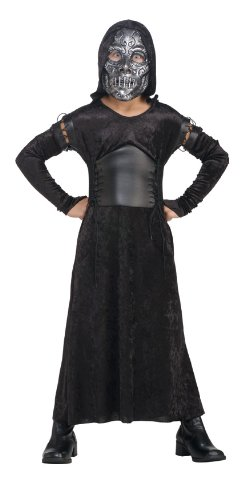 Click for larger image of Harry Potter And The Deathly Hallows, Child's Death Eater Bellatrix Costume And Mask, Medium by Rubie's