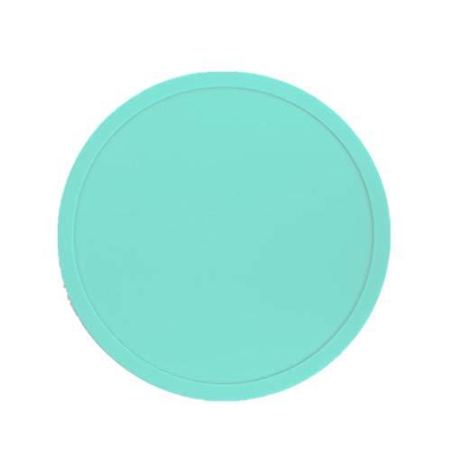 10 PCS Drink Rutschfestes Silikon Untersetzer leicht zu reinigen und hinterlassen Keine Flecken mit guter Griffigkeit gut für heiße und kalte Getränke Teetasse Matte(mehrfarbig) Grün B
