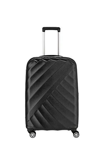 """TITAN """"SHOOTING STAR"""" von TITAN®: Robuste Hartschalen-Trolleys in coolem Metallic-Look in 4 Trendfarben Koffer, 66 cm, 70L, Black/Silver"""