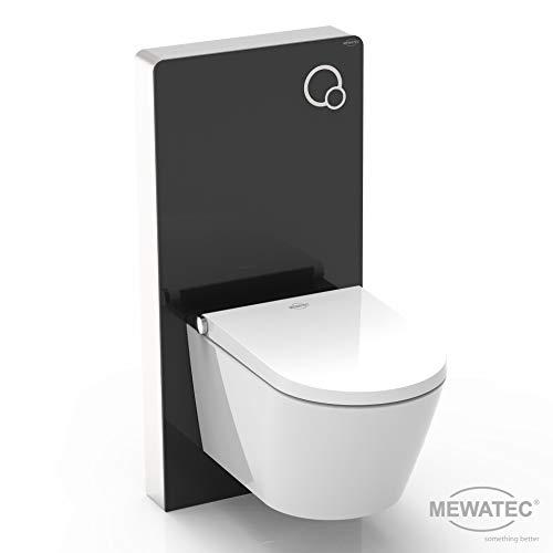 MEWATEC Vorteilsset Marken Dusch-WC Komplettanlage Memphis Basic inkl. Premium Spülkasten MagicWall schwarz