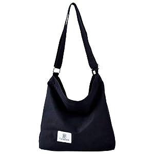 31JqLJl6D8L. SS300  - Bolsos Mujer,Fanspack Bolso Bandolera de Lona Hobo Bag Bolsos de Crossbody Bolsas de Hombro para Multifuncional (Gris)