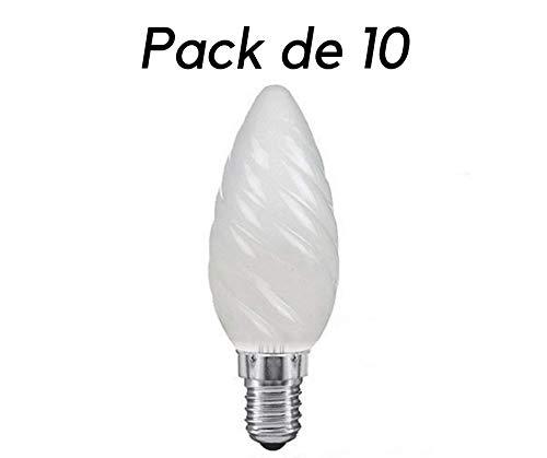 Glühlampe, Kerze, gedreht, E14, matt, 40W, 10 Stück