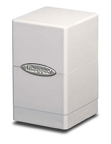 1X ULTRA PRO WHITE Satin Tower Deck Box MTG MAGIC the Gathering POKEMON Holds 100 Cards by Ultra Pro