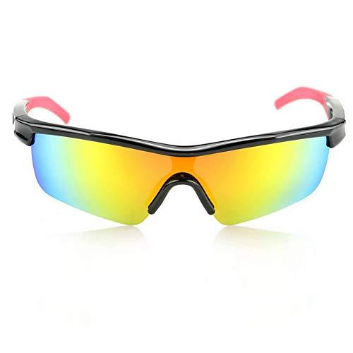 Chengzuoqing Polarisierte Sport Herren Sonnenbrille Kinder Sport polarisierte Brille lässige Outdoor-Brille Reitbrille Ski Fahren Golf Laufbrille (Color : Black)