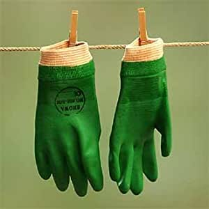 Gardening gloves waterproof showa 600 pvc gloves flexi for Gardening gloves amazon