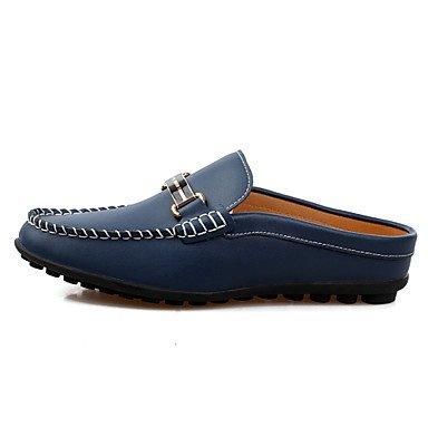 Herren Schuhe Casual Leder-slipper White/Navy Marine