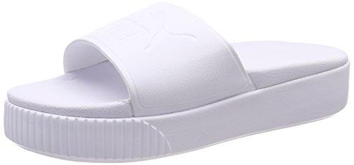 Puma platform slide bold wns scarpe da spiaggia e piscina donna, bianco white, 40.5 eu