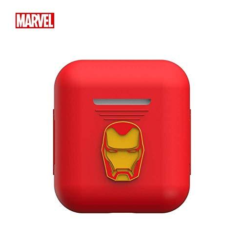 Marvel Avengers Endgame - Custodia protettiva in silicone compatibile con Apple AirPods 1 e AirPods 2 [LED frontale non visibile] Red Iron Man
