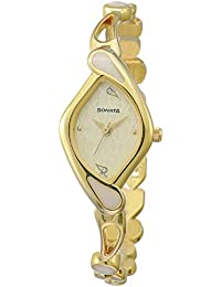 Sonata Sona Sitara Analog White Dial Women's Watch -NK8073YM01