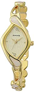 Sonata Sona Sitara Analog White Dial Women's Watch-NK8073YM01