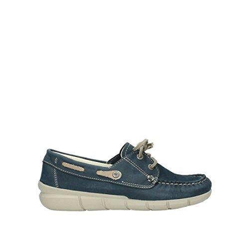 Laccio Wolky scarpe, 1509 Cahita 182 denim blau Nubukleder