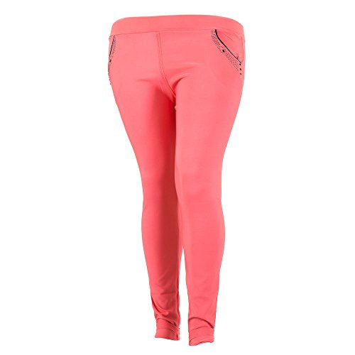 Plus Size Treggings Skinny Hose Für Damen bei Ital-Design Pink