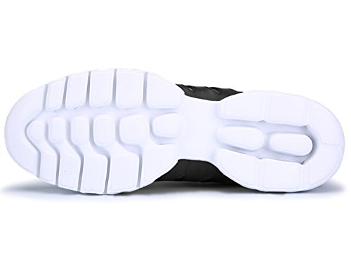 IIIIS-R Laufschuhe Outdoor Fitnessschuhe für Damen Herren Atmungsaktiv Schwarz
