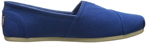 Bobs De Skechers Peluche Peace And Love Flat Bleu Roi
