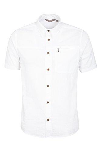 Mountain Warehouse Camicia Uomo da viaggio manica corta Cocco Bianco