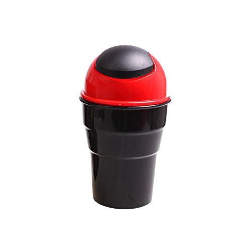 Preisvergleich Produktbild Panamami Universal Auto Mülleimer Mini Mülleimer Fahrzeug Mülleimer mit Deckel Automobil Lagerung Eimer Autozubehör - rot