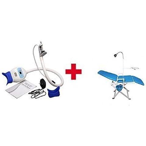 ASICO Dental Teeth Whitening Sbiancamento lampada Acceleratore + dentale sedia
