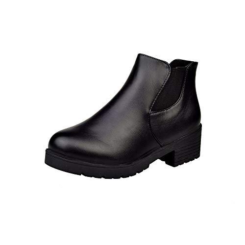 Bazhahei donna scarpa,ragazza stivali con tacco spesso ankle boots scarpe casual,invernali/autunno tacchi alti scarpe singole stivaletti shoes con tacco basso stivale,boots moda da donna