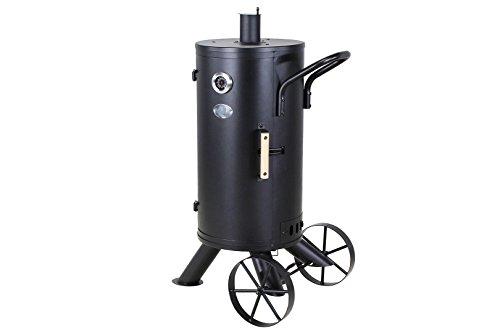 """Miweba BBQ Smoker & Holzkohlegrill """"Smoking Gun"""" stehender Räucherofen Grill inklusive Zubehör und großen Rädern"""